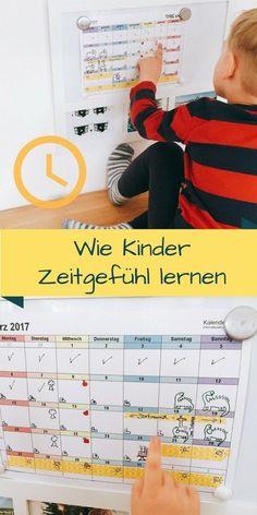 Kinder und Zeit, kostenloser Kalender, montessori inspiriert, Symbole und Farben, Kind kann nicht lesen