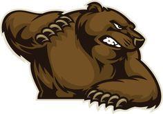 Urso com garras - ilustração de arte vetorial