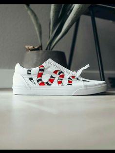3c44bd25115 Gucci Vans Old Skool - Custom Painted Gucci Snake Shoes