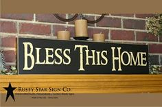 Bless This Home Sign - 8 x 32