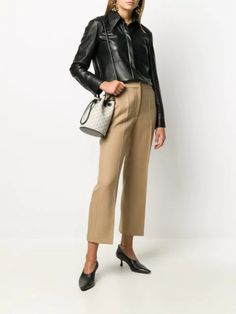 Leather Jacket Outfits, Cropped Trousers, Teen Fashion Outfits, Stella Mccartney, Spring Fashion, Kicks, Cute Outfits, Trendy Outfits, Women Wear