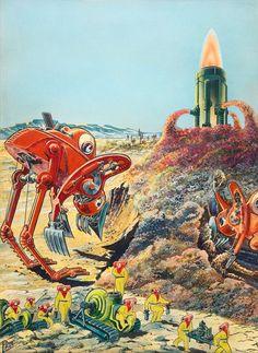 """Intergalactic Excavation"" / Retro Science Fiction"