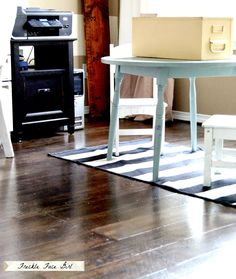 Remodelaholic | Faux Wood Plank Floors Using Brown Paper