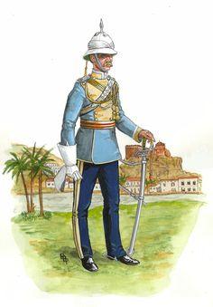 Risultati immagini per bruce bassett powell indian british empire watercolours Military Art, Military History, Military Fashion, Military Uniforms, Military Style, British Army Uniform, British Uniforms, Commonwealth, Bengal Lancer