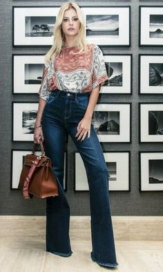 Flare Jeans Look do dia - Lala Rudge