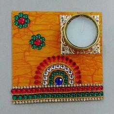 Acrylic diya Diwali Candle Holders, Diwali Candles, Candle Holder Decor, Vase Crafts, Craft Stick Crafts, Bottle Crafts, Diy And Crafts, Diwali Decoration Items, Thali Decoration Ideas
