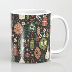 Holiday Ornaments Mug by Anna Deegan | Society6