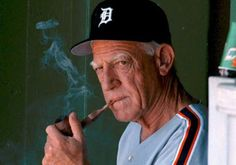 February 1995 Unwilling to be part of an inferior product placed on the field and as a show of support for his players, Tigers manager Sparky Anderson is suspended without pay when he refuses to. Detroit Rock City, Detroit Sports, Detroit Tigers Baseball, Detroit Usa, Baseball Bats, State Of Michigan, Detroit Michigan, Old English D, Sparky Anderson