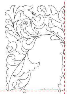 Free Printable Flower Embroidery Patterns | ve also provided an enlarged corner repeat of the design, in case ...