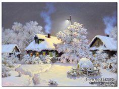 #алмазная мозаика снег