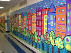 Love this school mural!