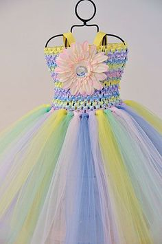 Stripe body tutu dresses crochet strips of tulle? Beautiful. http://topflightvideos.blogspot.ae/
