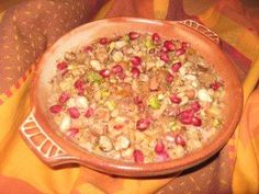 Noahs Süßigkeit...eine türkische Süßspeise-Turkish desert. Noah, Fried Rice, Fries, Sweet, Ethnic Recipes, Easy Meals, Chef Recipes, Food Food, Candy