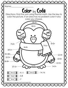 Winter Math and Literacy Printables-No Prep! Centers First Grade, First Grade Writing, First Grade Activities, Teaching First Grade, First Grade Math, Math Centers, Subtraction Activities, Phonics Activities, Motor Activities