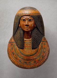 Mummy Mask of Khonsu   New Kingdom, Ramesside Dynasty 19 reign of Ramesses II Date:ca. 1279–1213 B.C.   The Met
