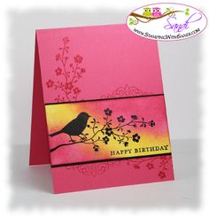 Morning Meadow Sponged CAS Card by SandiMac - Cards and Paper Crafts at Splitcoaststampers