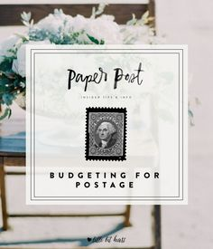 Budgeting for wedding invitation postage- make sure to account for this cost in your invitation budget!