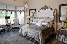 Dreamy master bedroom by Donna Moss Dream Rooms, Dream Bedroom, Home Bedroom, Bedroom Decor, Bedroom Ideas, Bedroom Retreat, Master Bedrooms, Master Suite, Bedroom Curtains