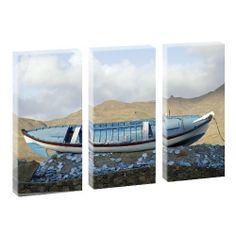 Kunstdruck auf Leinwand - Strandboot - mehrteilig - 130cm x 80cm von Querfarben, http://www.amazon.de/dp/B00FG0CHPA/ref=cm_sw_r_pi_dp_frTMsb05TT8P6