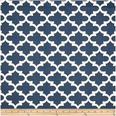 1/2 Yard Navy and White Quatrefoil Fabric - Premier Prints Navy blue and White Fulton Fabric HALF YARD dark blue navy blue lattice