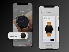 AR - Concept app (watches) by Stano Bagin Mobile Ui Design, Web Ui Design, Scan App, Website Design Layout, Ui Design Inspiration, Ui Web, Screen Design, User Interface Design, Mobile App