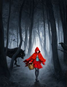 Red Riding Hood (by Robert Carter, via Art Attacks Online)