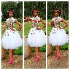 Bride Zulu Traditional Attire, South African Traditional Dresses, African Traditional Wedding, Traditional Wedding Dresses, Traditional Weddings, African Wedding Theme, African Wedding Attire, African Attire, African Weddings
