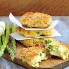 Cauliflower Asparagus Semolina Cakes