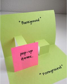 Make Your Own Pop-Up Books  super cute pop up books..good for beginning of school year or a year-end activity