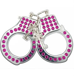 Pink Rhinestone Handcuff Set  - For the Horneymoon...oops!...I mean Honeymoon :) #Handcuffs #BacheloretteParty