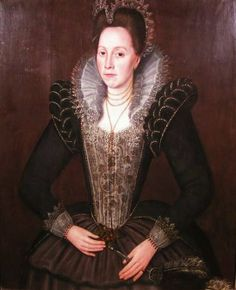 Lady Francis Kildare Frances Howard (d 1628). Date of portrait unknown, but c. mid to late 1590s I think.