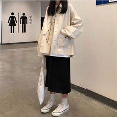 Mega Fashion, Korean Girl Fashion, Korean Street Fashion, Korea Fashion, Muslim Fashion, Asian Fashion, Look Fashion, Skirt Fashion, Fashion Outfits