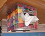 Simple! Attach a tissue box to the ceiling of your camper