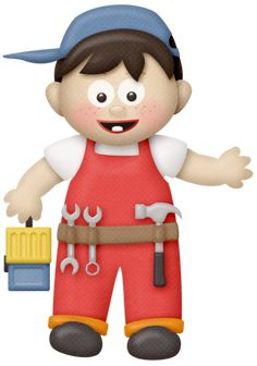 "Photo from album ""(handy helper)"" on Yandex. Teamwork Activities, Clipart Boy, Clip Art Pictures, Construction, Little Man, Doll Patterns, Digital Image, Paper Dolls, Album"
