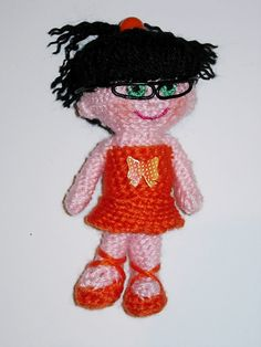 Amigurumi Doll Niña Carla  Finished doll by CrochetExpression, €9.90 - Possibility of personalize - Made by order