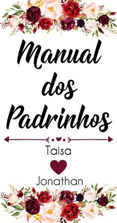 Manual dos Padrinhos #marsala vem ver!!! 2 Mug Designs, Happy Day, Floral Watercolor, Cute Couples, Dream Wedding, Place Cards, Wedding Invitations, Place Card Holders, Manual