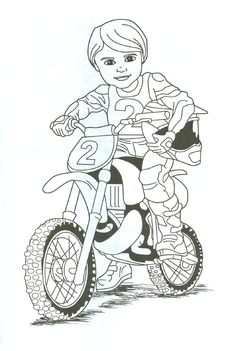 dirt bike rider coloring page. Tina.... we cn print this and fayth could color…