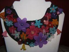 Flower Patch Bib Necklace