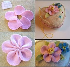 Collection of tutorials for making DIY felt flowers – Embroidery Desing Ideas Felt Flowers, Diy Flowers, Fabric Flowers, Paper Flowers, Easy Paper Crafts, Felt Crafts, Crafts To Make, Diy Bow, Diy Ribbon