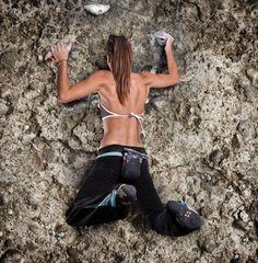 Girls and Rock Climb