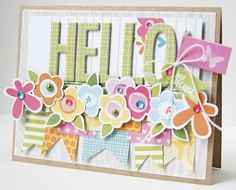 Featuring Bella Blvd Sand & Surf Collection. HELLO Card by DT Member Gretchen McElveen