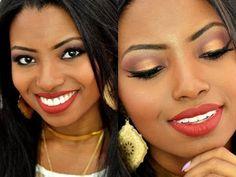 Maquiagem para pele negra - Festas de fim de ano.
