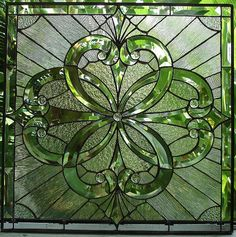 Wow!!!   Heavily Beveled Clear & Textured Stained Glass Window Art Leaded Tiffany decorative stain colored obscure privacy custom