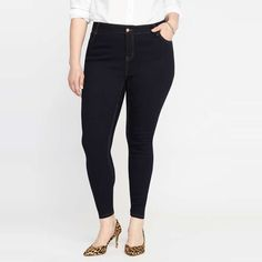 Rank & Style - Old Navy Smooth & Slim High-Rise Skinny Plus-Size Jeans #rankandstyle