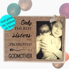 GIFT for Godmother  Godparents Godfsther Personalized Picture Frame  Christening Babtism  8x10 by RusticMood on Etsy