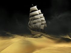 Sailing The Desert by Gate-To-Nowhere.deviantart.com on @DeviantArt