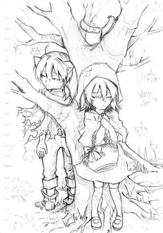 The Wolf that Fall in Love with Little Red Riding Hood Kagamine Rin and Ren fanart