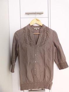 Camisa topo con mini-chorreras
