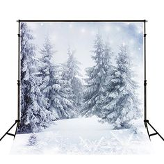 Winter Nature Photography Backdrops Trees Custom Background 5x7 White Snowflake Photo Background Cloth No Wrinkles