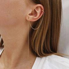 Different Ear Piercings, Types Of Ear Piercings, Cute Ear Piercings, Tongue Piercings, Tiny Stud Earrings, Gold Hoop Earrings, Crystal Earrings, Drop Earrings, Diamond Earrings